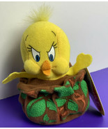 "Tweety Bird Talking 5"" Plush Slammer Applause Looney Tunes 1998 with Tags - $14.84"