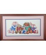 DIMENSIONS Barbara Mock OLD FRIENDS Teddy Bears Cross Stitch Pattern Fin... - $45.96