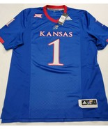 NWT Adidas Kansas University Jayhawks Large #1 Football Jersey New With ... - $39.59