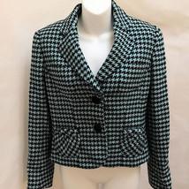 Carlisle 4 Jacket Blue Black Houndstooth Wool Cashmere Blazer - $44.08