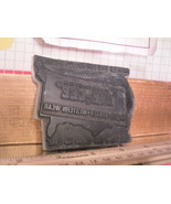 Flexographic Printing Plate Rubber Stamp - Dee-Cee Western Wear - $8.55