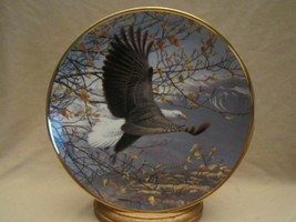Autumn In The Mountains Collector Plate Bald Eagle John Pitcher Hamilton Seasons - $39.99