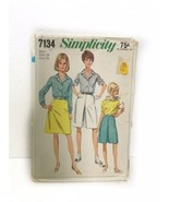 Simplicitu 7134 Misses & Womens Culottes Skirt Blouse Sewing Pattern Siz... - $15.83