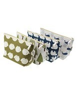LJY 4 Pieces Assorted Large Capacity Forest and Animal Theme Linen Pen H... - $294,77 MXN