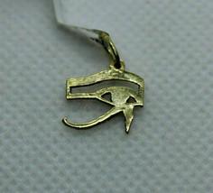 Egyptian Handmade Eye of Horus 18K Yellow Gold Pendant 1 Gr - $135.23