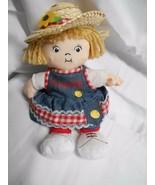 "Campbells Soup Plush Doll Straw Hat Girl Bean Bag 7"" Tall Stuffed Toy - $7.49"