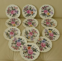 COALPORT POSYDALE Bread and Butter Plates Set of 10 - $75.00