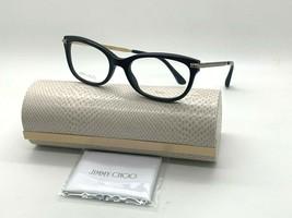 Jimmy Choo Eyeglasses Jc 217 807 BLACK/GOLD 52-18-140MM Italy Case& Cloth - $77.57