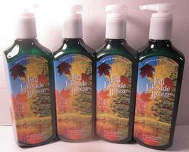 4 Bath & Body Works Deep Cleansing Hand Soap  Fall Lakeside Breeze - $25.99