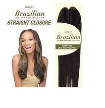 """Outre Simply Unprocessed Brazilian Straight Lace Parting Closure 16"""" - $45.89"""