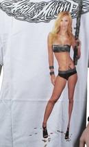 Metal Mulisha White Sharp Shooter Gun Riffle Sexy Armed Girl T-Shirt Small NWT image 2