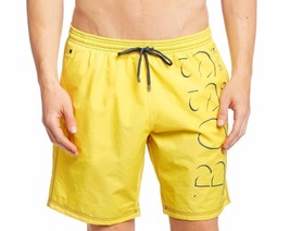 NEW MEN'S HUGO BOSS LOGO PREMIUM KILLIFISH SWIM QUICK DRY BOARD SHORTS YELLOW
