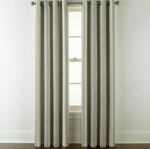 (1) JCPENNEY Sullivan Stripe Oxide Gray Multi  Blackout Grommet Curtain ... - $56.09