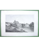 PARIS France Auxerre - 1823 Antique Print by Cpt Batty Engraving - $16.83
