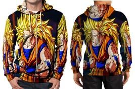 Dragon Ball Z Goku Saiya 3 Hoodie Zipper Fullprint Men - $46.80