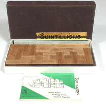Vintage Quintillions game strategy game wooden blocks spatial relationsh... - $104.18