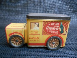 Old COCA-COLA Bottling Co. Sterilized Bottles Metal Tin Delivery Truck Container - $19.79