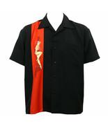 Steady Clothing Single Pinup Rockabilly Black Button Down Bowling Shirt ... - $44.99