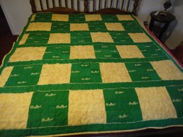 Crown royal Quilt Green and gold 82 long 74 wide New - $116.53