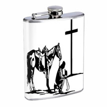 Cowboy Cross Em1 Flask 8oz Stainless Steel Hip Drinking Whiskey - $13.81