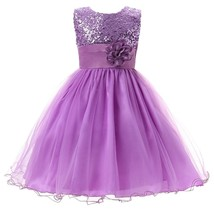 Girl Ball Dress Flower Sequin Princess Tulle Party Birthday Ball Gowns 4 - $43.98