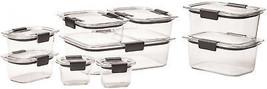 Rubbermaid Brilliance 18-piece Food Storage Set, Crystal-clear, 100% Lea... - €21,25 EUR