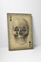 Five Of Spades Playing Card Gallery Wrapped Canvas Print Wall Art - $39.55+