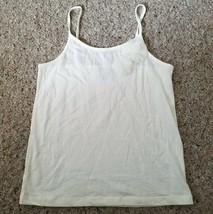 GAP KIDS Ivory Tank Top with Tulle Flower Accents Girls Size 8 Medium - $2.88