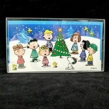 Hallmark Peanuts Christmas Cards Singing Around Tree Box of 16 Self Sealing - $12.99