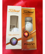 titleist golf balls and tees lot of two new boxes sports gifts Pro V1 Ve... - $14.99