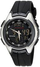 "Casio Men's AQ160W-1BV ""Ana-Digi"" Stainless Steel Watch with Black Band - $38.34"