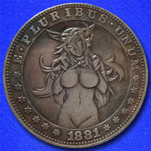 "Sexy Girl 6B ""Hobo Nickel"" on Morgan Dollar Coin ** - $3.79"
