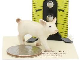 Hagen Renaker Miniature Farm Pig White Piglet Walking image 2