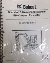 Bobcat E80 Compact Excavator Operation & Maintenance Manual Owner's #6987193 - $23.00+