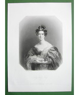 QUEEN VICTORIA'S Court Beauty Lady Emily Foley - SUPERB Antique Print - $21.42
