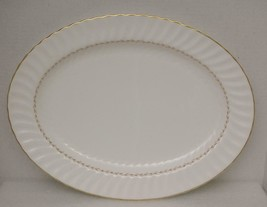 "ADRIAN by Royal Doulton China 16"" OVAL SERVING PLATTER H.4816 Gold Laure... - $77.59"
