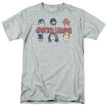 Justice League DC Heroes T-shirt Batman Superman superfriends grey cotto... - $19.99+