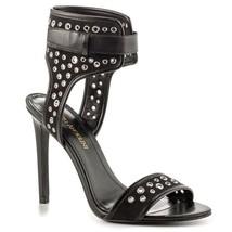 NEW Enzo Angiolini Booka Black Studded Sandals, Size 8.5 - $29.99