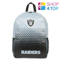 OAKLAND RAIDERS BACKPACK TRAVEL BAG GREY NFL AMERICAN FOOTBALL OFFICIAL NEW - ₹1,763.01 INR