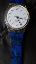 Swatch Tisane 1992 Unique & Abstract Blurry NUMBERS-SWISS Made Works Great - $41.33