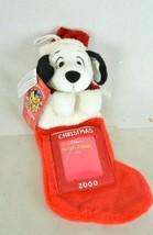 "NWT Disney Store Parks Candy Cane Plush Frame Dog Stocking 15"" Ornament 2000 - $9.50"