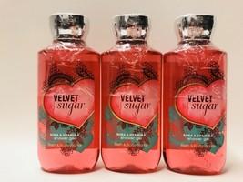 3 Bath & Body Works Velvet Sugar Shower Gel Wash 10 fl.oz 295 ml New - $24.70