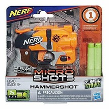 Nerf MicroShots Zombie Strike Hammershot Mini Blaster Gun Kids Toys Ages... - $11.57