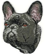 """1 3/4"""" x 2 1/2"""" French Bulldog Dog Breed Face Portrait Embroidered Patch - $5.00"""