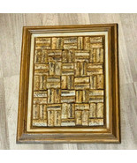 Wine corks wall hanging framed art Congress Constitution on back 15X12 bar decor - $49.45