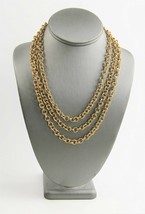 """58"""" ESTATE VINTAGE Jewelry OPERA LENGTH GOLD METAL CHAIN LINK LAYERING N... - $25.00"""