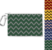 Harry Potter Inspired House Chevrons Canvas Zip Pouch - $15.99+