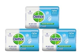 Dettol Cool Soap Everyday Protection For Unseen Germ 75 gm (Pack of 3) - $13.09