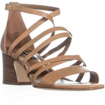 Nine West Youlo Ankle Strap Block Heel Sandals, Dark Natural, 7 US - $41.27