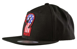 Dissizit! The Sh!t AMERICA #2 Two American Flag USA Snapback Baseball Hat NWT image 2